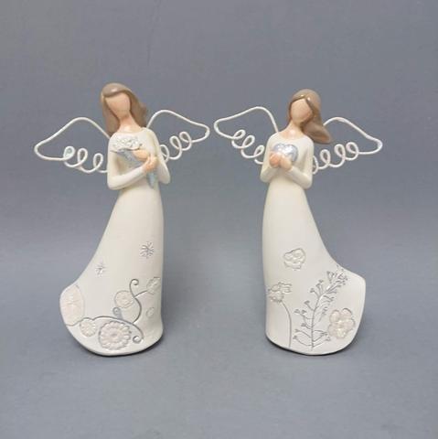 Anděl drátěná křídla 16cm