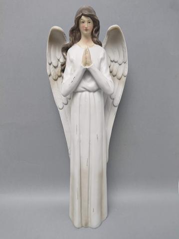 Anděl poly modlící se šedé šaty