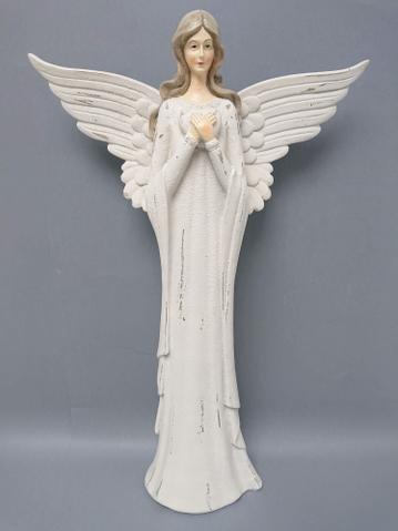 Anděl poly větší bílé srdce