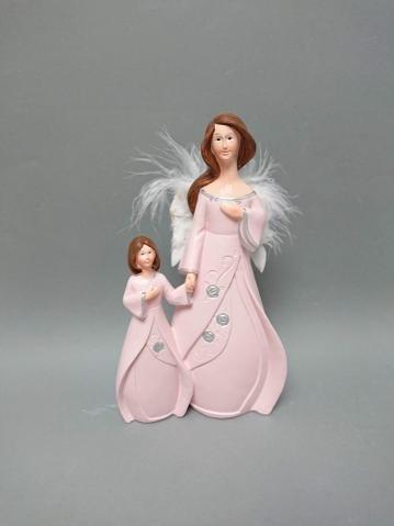 Anděl s děckem růžový