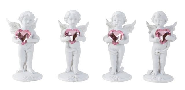 Anděl s růžovým srdcem stojící