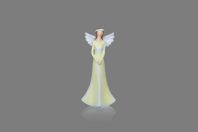 Anděl žlutý s věnečkem menší