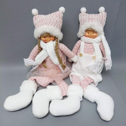 Děti látkové růžové sedící