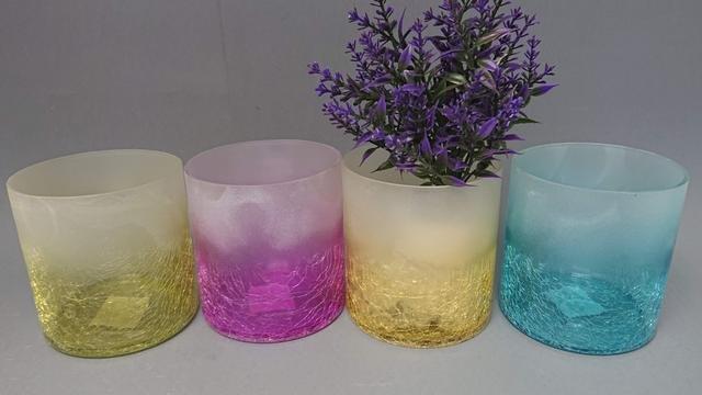 Dóza sklo barevná střední