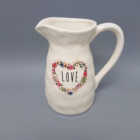 Džbánek keramika se srdcem