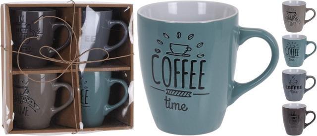 Hrnek COFFEE barevný sd 4ks