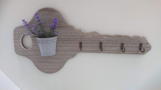 Klíč dřevo s levandulí na klíče