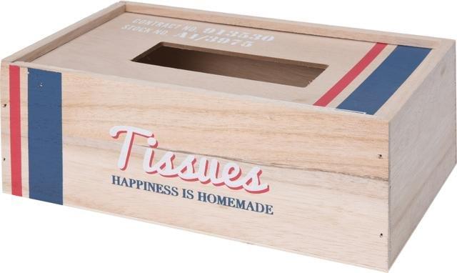 Krabička na ubrousky dřevo s proužk