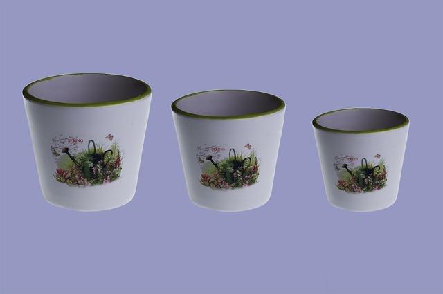 Květináče keramika sd 3 ks