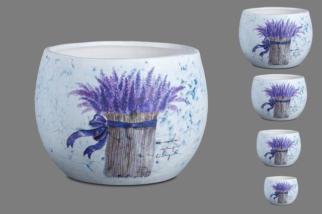 Květník keramika s levandulí sd 4ks