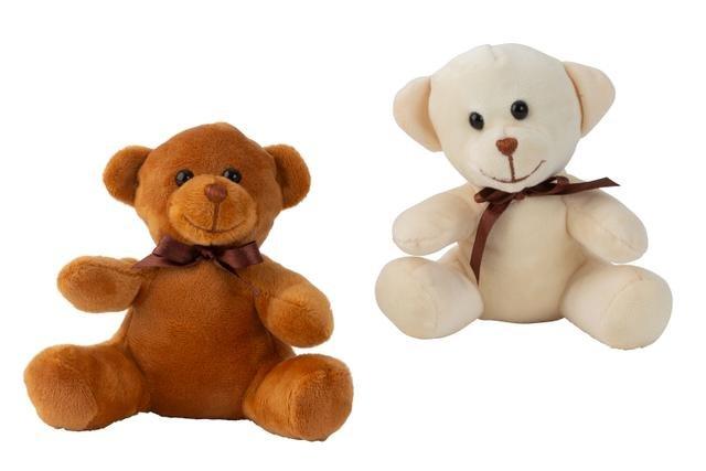 Medvídek plyš hnědá + bílá