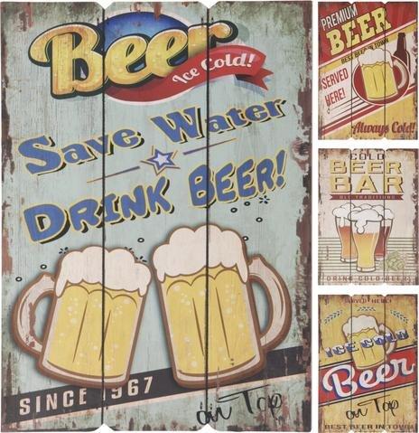 Obraz dřevěný pivní motiv