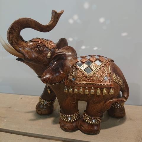 Slon hnědý se sklíčky velký