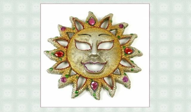 Slunce keramické barevné