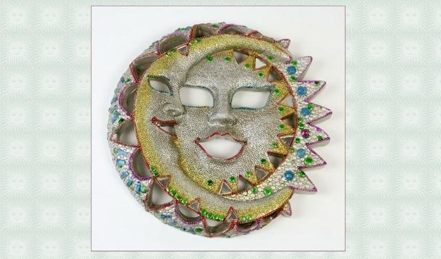 Slunce+měsíc keramika barevné