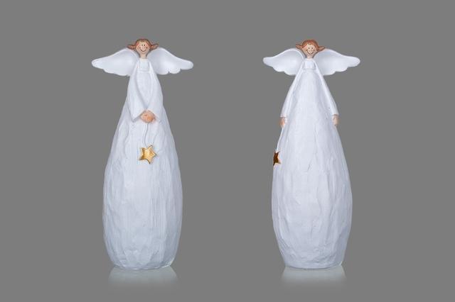 Vysmátý anděl bílý střední