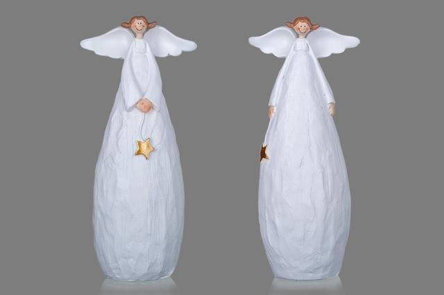 Vysmátý anděl bílý velký