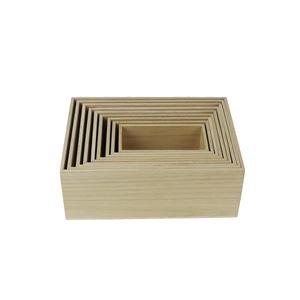 Bedýnka dřevěná, sada 9ks D1869
