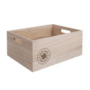 Dřevěná bedýnka HOME MADE O0010