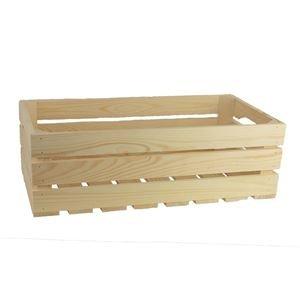 Dřevěná bedýnka přírodní, 097020