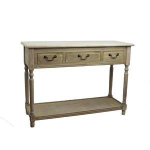 Dřevěný stůl 3 zásuvky