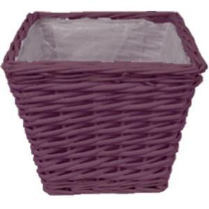 květináč tm. fialový  20 x 20 cm P0016-11