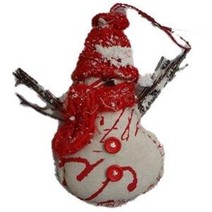 sněhulák k zavěšení červený, X0051