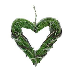 srdce závěsné zelené v. 25 cm P0030