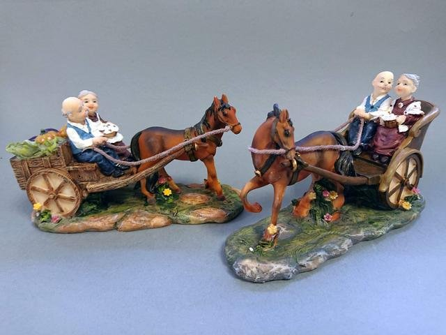 Důchodci s koněm