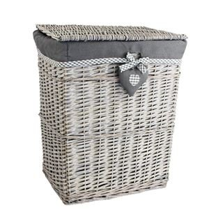 Koš na prádlo šedý P1375