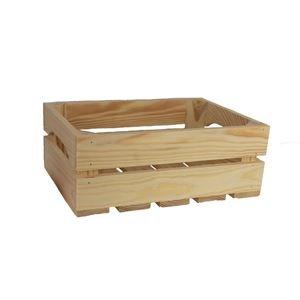 Dřevěná bedýnka přírodní, 097018