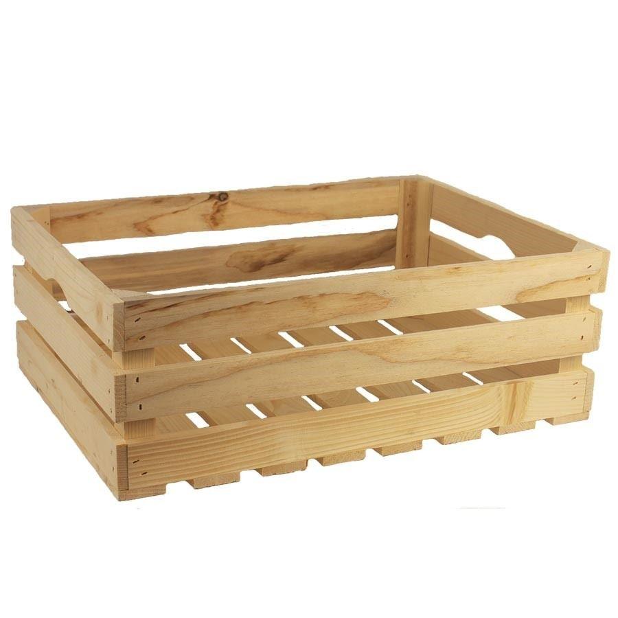 Dřevěná bedýnka přírodní velká 097028