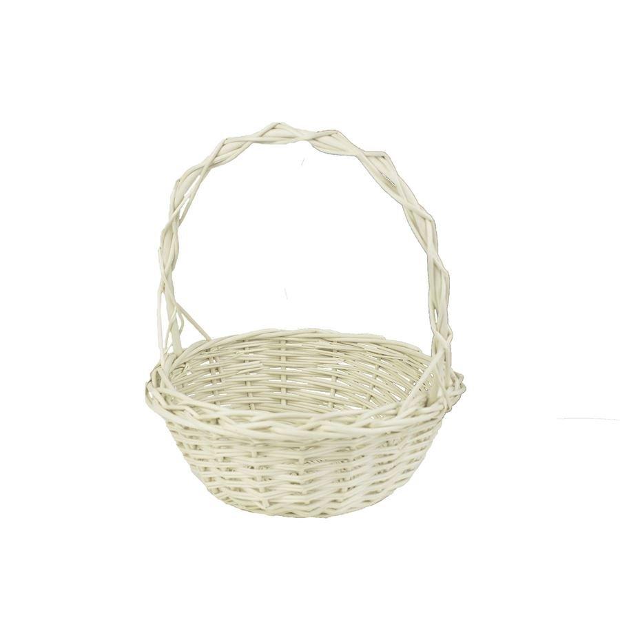 košíček aranžovací 23 cm bílý 0511007-01
