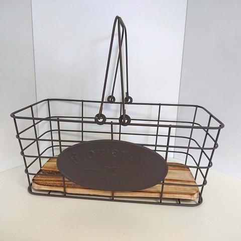 Košík kov obdélník