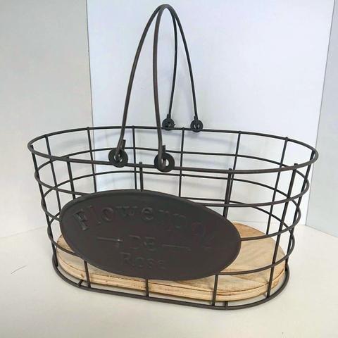 Košík kov ovál