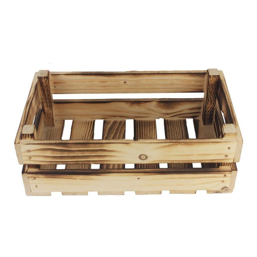 Dřevěná bedýnka opalovaná, 097015