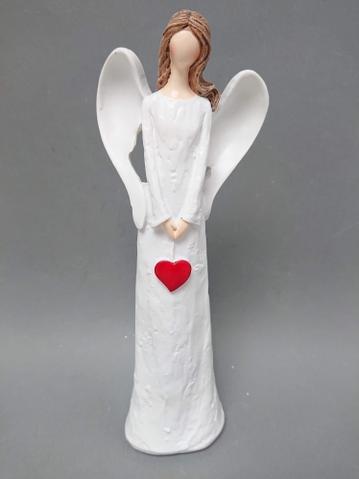 Anděl červené srdce velký