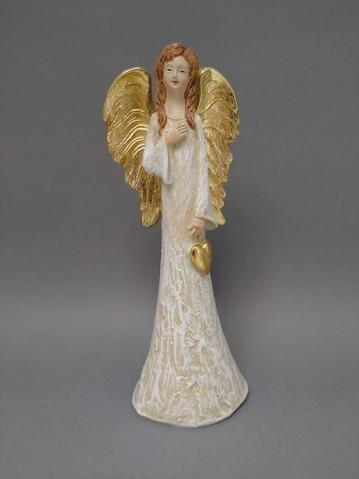 Anděl se srdcem zlatá křídla